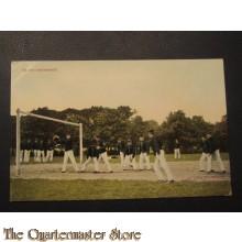 Prent briefalveldkaart 1905  op het voetbalveld