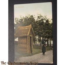 Prent briefkaart 1905 Op Schildwacht