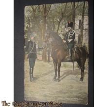Prent briefkaart 1905 Marechausees