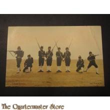 Prent briefkaart 1905 Colonne geweer