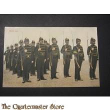 Prent briefkaart 1905 Sectie halt