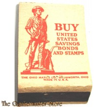 Matchbook BUY United States saving bonds and stamps