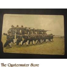 prent briefkaart 1905 Vuren in gesloten peleton