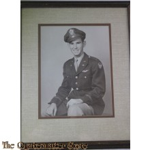 Framed b/w Photo of WW2 Pilot in class A