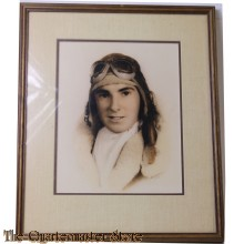 Framed colourized Photo Naval Aviator