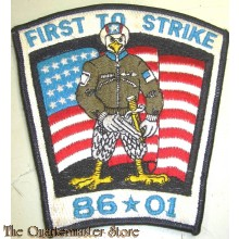 Badge FIRST TO STRIKE  86 - 01 USAF