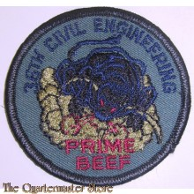 "Badge 36th  Civil Engineering ""Prime Beef"" USAF"