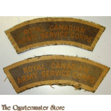 Shoulder titles Royal Canadian Army Service Corps RCASC (canvas)