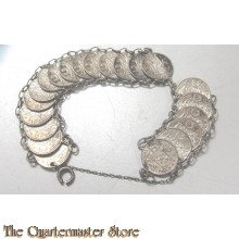 Armband 1/10 guldens ned Indie 1940-45
