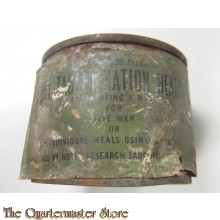Tin can Fuel heating ration WW2