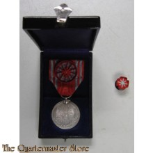 Red Cross merit medal silver with rosette