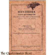 Handboek  voor de schrijverbj de Kon Landmacht  1948
