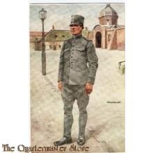 Prent briefkaart mobilisatie 1939 soldaat tek