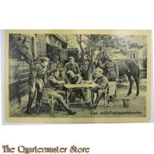 Prent briefkaart mobilisatie 1939 pandoertje