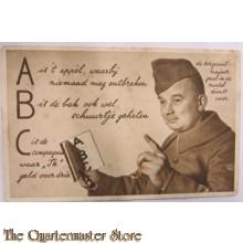 Prent briefkaart ABC