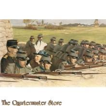 Prent briefkaart mobilisatie 1939 wilhelmina tek