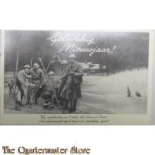 Mobilisatie briefkaart 1940 kokende soldaten