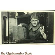 Prent briefkaart mobilisatie 1939 bof verlof