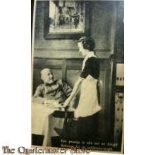 Prent briefkaart mobilisatie 1939 praatje deugd