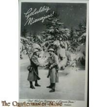 Prent briefkaart mobilisatie 1939 jaar maar