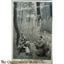 Prent briefkaart mobilisatie 1939 Heil en Zegen