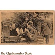 Prent briefkaart mobilisatie 1939 Snoepen thee