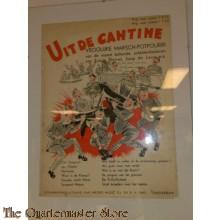 """Muziekvoorblad """" uit de Cantine"""" 1939"""