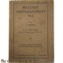Militaire Ambtenarenwet 1931