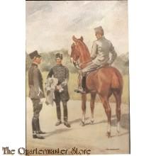 Prent briefkaart mobilisatie 1939 Huzaren tek