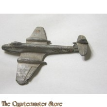 No 731 Vintage Metal Silver Twin Engine WW II Fighter Airplane