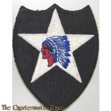 Mouwembleem 2nd Infantry Division (Sleeve patch 2nd Infantry Division)