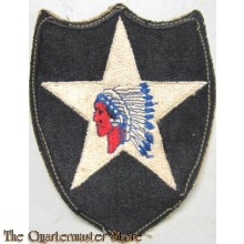 Mouwembleem 2nd Infantry Division (Sleeve patch 2nd Infantry Division) glue