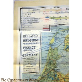 Map Of France Holland And Germany.Cloth Escape Map European Theater 1943 Series C D Holland Belgium